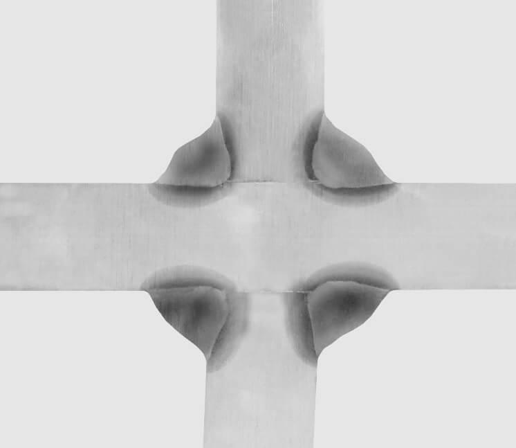 Rysunek 4. Złącze krzyżowe, spoina pachwinowa