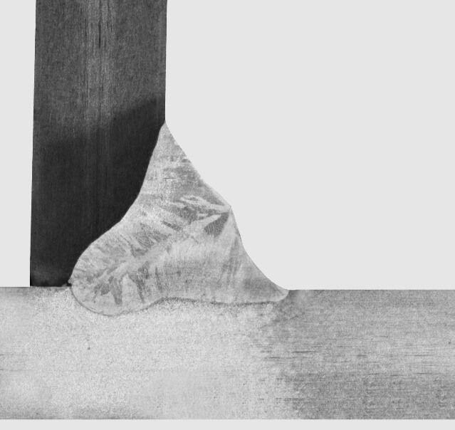 Rysunek 6. Złącze teowe, spoina czołowa z częściowym wtopieniem